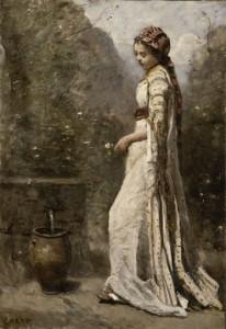 Jeune fille grecque ‡ la fontaine