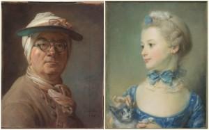 A-gauche-Autoportrait-lunettes-Chardin-Jean-Baptiste-Simeon-1699-1779-Paris-Musee-Louvre-A-droite-Marie-Anne-Huquier-Musee-Louvre-Perronneau-Jean-Baptiste